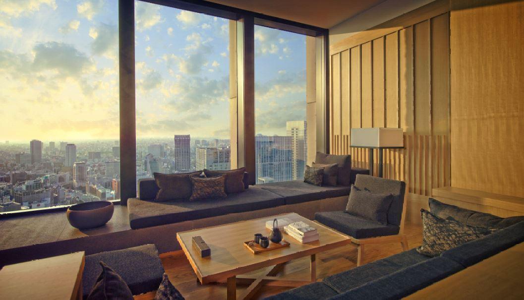 Aman Tokyo Suite Living Area